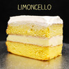 Pucker-up, lemon lovers! Two layers of moist Yellow cake filled with zesty (non-alcoholic) Limoncello custard and topped with Lisa's Italian whipped cream.