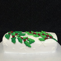 Holly Berry Yule Log