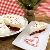 Velvet Candy Cane Dream Cake Pie