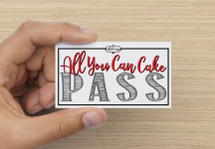 All You Can Cake Pass 10/9/17