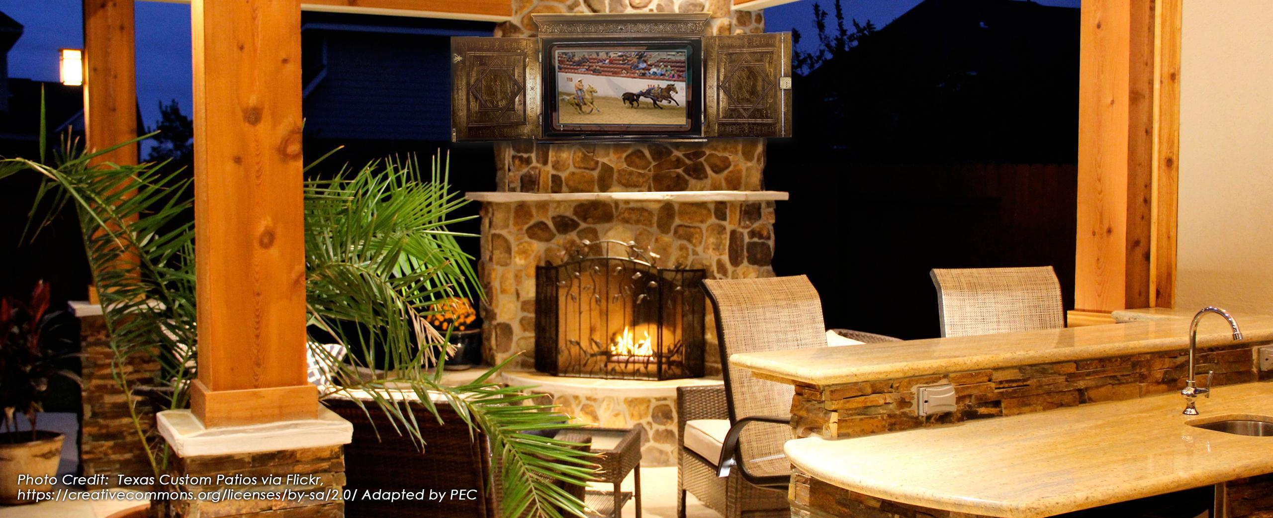 The TV Shield Outdoor TV Cabinet