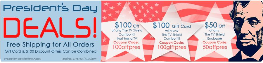 check out pec s presidents day sale savings the tv shield. Black Bedroom Furniture Sets. Home Design Ideas