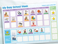 Magnetic Moves 'My Busy School Week' Children's Activity Chart