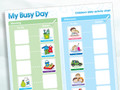 Magnetic Moves 'My Busy Day' Children's Activity Chart