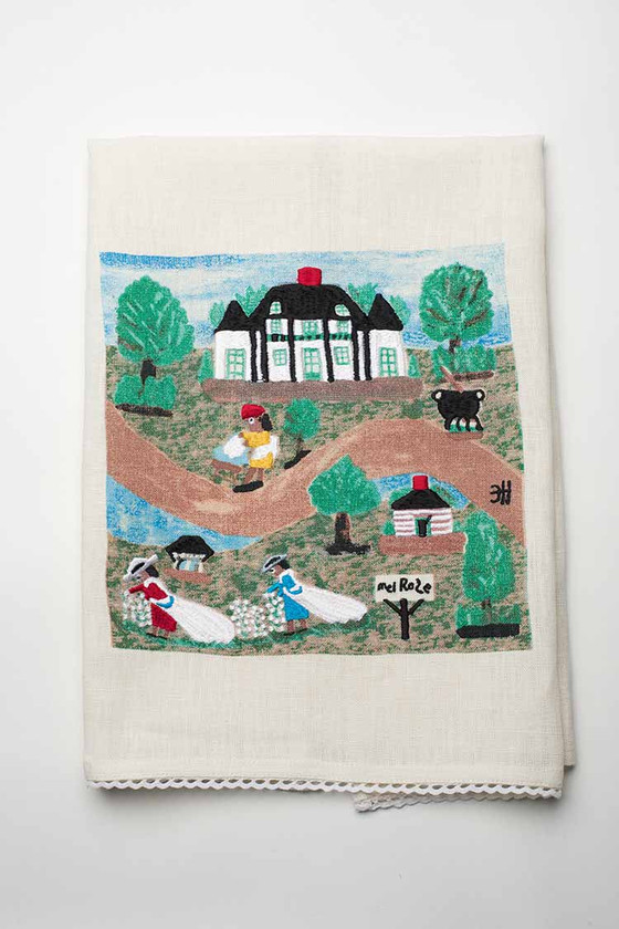 A Day at Melrose Plantation Linen Tea Towel.