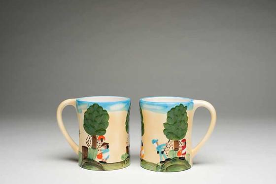 Pecan Picking Mugs.