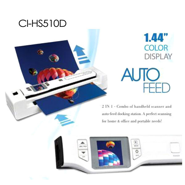 Digitalk 2-in-1 Combo Portable A4 1200DPI Photo Scanner (CI-HS510D)