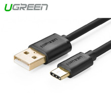USB 2.0 Type A Male to USB 3.1 Type-C Male Charge & Sync Cable White 1M