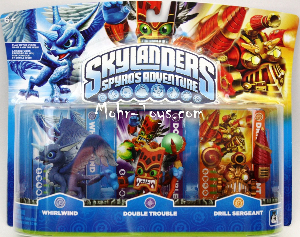 Pin skylanders character 3 pack whirlwind double trouble on pinterest