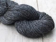 """NEW - """"Obsidian""""     Shorn by Tabbethia  80% alpaca/20% silk, 2 ply fingering wt., 400 yds, 4.4oz/125g"""