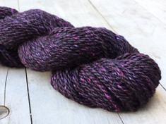 "NEW    ""Purple Twilight"" American Raised & Spun  50% alpaca/30% merino wool/20% silk, 2 ply worsted wt, 100 yds, 3.0oz/85g"