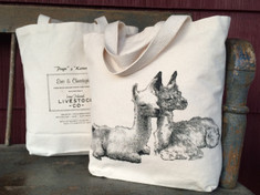 "Small tote with the crias ""Page and Kareena"""