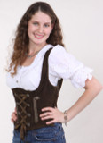 Ladies Leather Vest -Lacing (LV002)