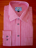 Red Checkered Shirt (SH-101RED) cotton