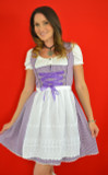 Lexi 3pc Dirndl Set Purple with white apron