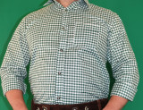 Green Checkered Shirt (SH-BT-Green)  65poly/35cotton SPECIAL