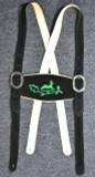 Black Suspenders Green Deer Embroidery  SPECIAL