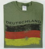 Deutschland Flag Distressed T-shirt Adult Screenprinted
