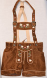 Ladies Leather Lederhosen - Brown (BTLADLTBRWN)
