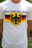 Deutschland Eagle YOUTH White T-shirt Screenprinted