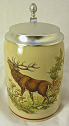 Elk Hunting Scene German Beer Stein