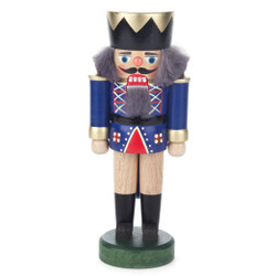 Small Blue King German Nutcracker NCD019X012B
