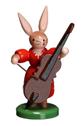 Bunny Playing Bass Red
