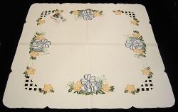 Easter Egg Tablecloth Tabletopper 87X87