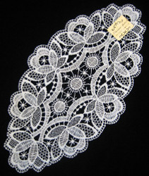German Lace Pointy Doily Table Topper