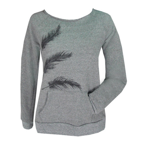 Lux Sweatshirt with Feathers
