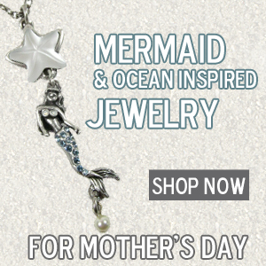 Handcrafted mermaid and ocean inspired jewelry made of lead-free pewter.