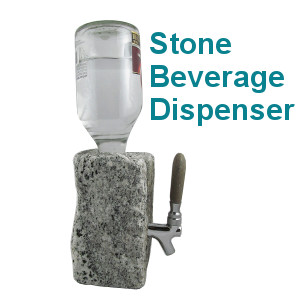Rock Wine Dispenser, Stone Drink Dispenser, Cobbled Stone Alcohol Dispenser