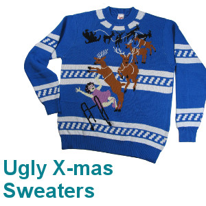 Ugly Christmas Sweaters, 100% knitted cotton