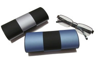 Roll Over Eye Glass Case In Blue/Silver/Black