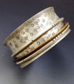 """1 1/4"""" W Sterling Silver Bangle with 3 Floats"""