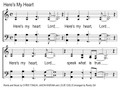 Here's My Heart Song Slides