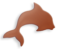 Copper Blank Dolphin Stamped Shape for Enamelling & Other Crafts