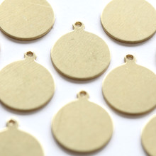 Brass tag for craft and jewellery making