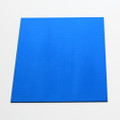 Blue anodised aluminium square