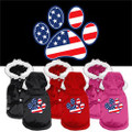 PATRIOTIC PAW SCREEN PRINT PET COAT