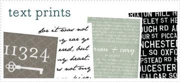 Text Prints