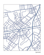Cranford New Jersey city map