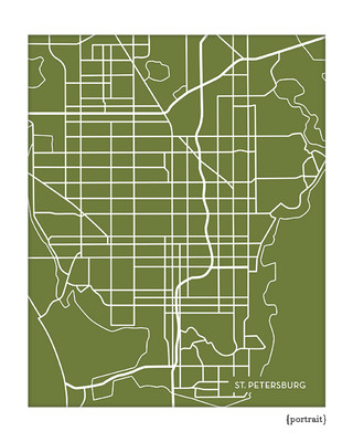 St. Petersburg Florida city map