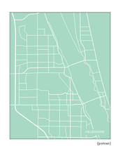 Melbourne Florida city map