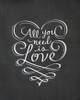 All You Need is Love Chalkboard Art Print