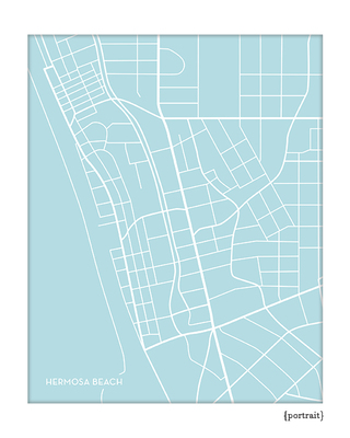 Hermosa Beach California City Map