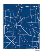 Ann Arbor Michigan city map