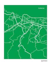 City map of Caracas - portrait