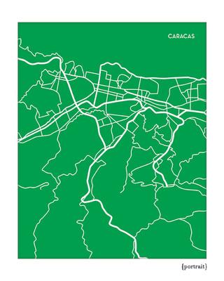 Caracas Venezuela City Map