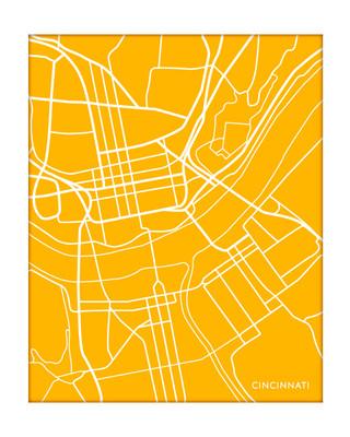 Cincinnati Ohio City Map